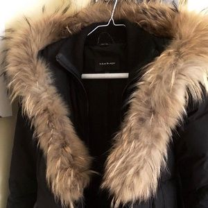 Mackage Adali Fitted Winter Coat in Black